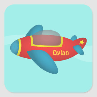 Cute Colourful Aeroplane Jet for Kids Stickers