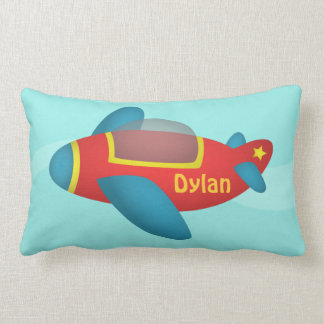 Cute Colourful Aeroplane Jet for Kids Throw Pillow