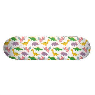 Cute Colourful Dinosaur Pattern for Boys Skateboard Deck