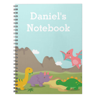 Cute Colourful Dinosaurs For Kids Notebook