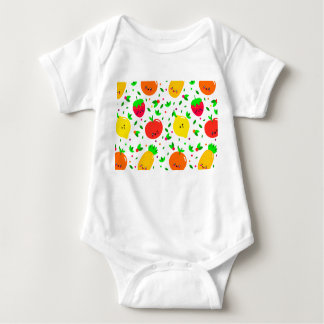 Cute Colourful Fruit Pattern Baby Bodysuit