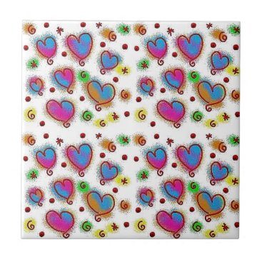merydesigns CUTE COLOURFUL HEARTS TILES