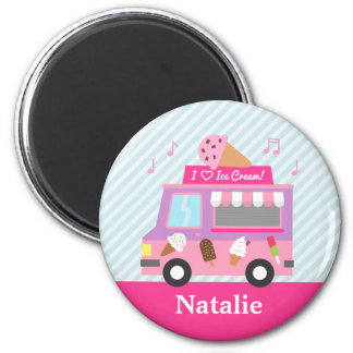 Cute Colourful Ice Cream Truck For Girls Magnet
