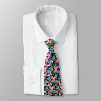 Cute colourful light pink  embroidery heart tie