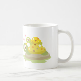 Cute Colourful Mommy Turtle and Child For Kids Coffee Mug