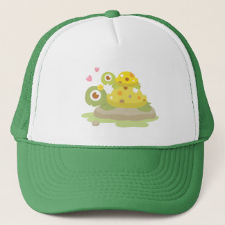 Cute Colourful Mommy Turtle and Child For Kids Trucker Hat
