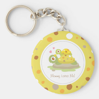 Cute Colourful Mommy Turtle and Child Keychain