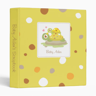 Cute Colourful Mommy Turtle and Child Scrapbook 3 Ring Binder