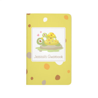 Cute Colourful Mommy Turtle Baby Shower Guestbook Journal