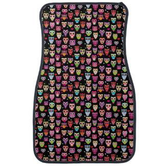 cute colourful owl kids pattern car floor mat