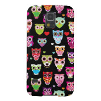 cute colourful owl kids pattern galaxy s5 cover