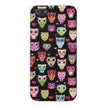 cute colourful owl kids pattern iPhone 5 cases