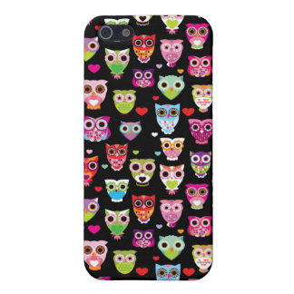 cute colourful owl kids pattern iPhone 5/5S covers