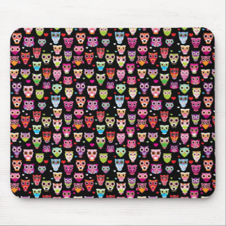 cute colourful owl kids pattern mouse pad