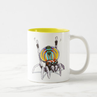 Cute Colourful Peacock Spider Drawing Art Mug