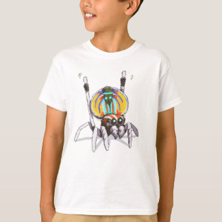 Cute Colourful Peacock Spider Drawing Art Shirt