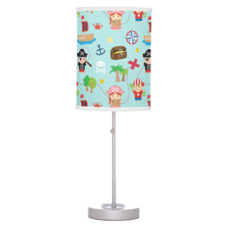 Cute Colourful Pirate Pattern Kids Room Decor Desk Lamp