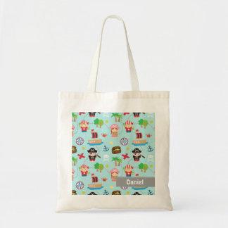 Cute Colourful Pirate Treasure Pattern For Kids Bags