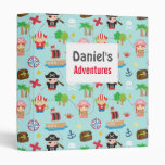 Cute Colourful Pirate Treasure Pattern For Kids Binder