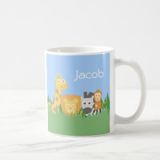Cute Colourful Safari Animals For Kids Classic White Coffee Mug