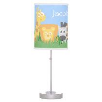 Cute Colourful Safari Animals Kids Room Decor Table Lamp