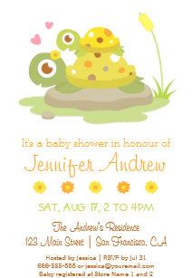 Baby turtle invitations announcements zazzle cute colourful turtle baby shower invitations filmwisefo