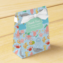 Cute, Colourful Underwater Animals Pattern Favor Box
