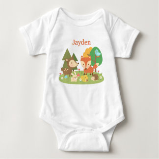 Cute Colourful Woodland Animal For Babies Tee Shirts