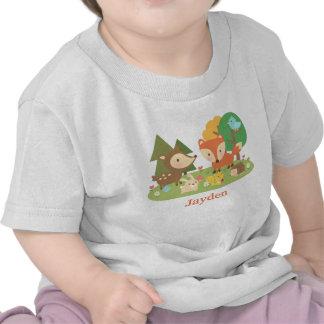 Cute Colourful Woodland Animal For Babies Tshirt