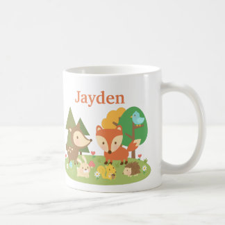 Cute Colourful Woodland Animal For Kids Coffee Mug