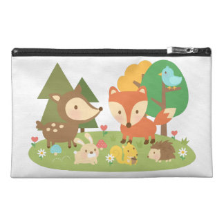 Cute Colourful Woodland Animal For Kids Travel Accessory Bag