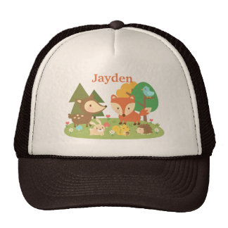 Cute Colourful Woodland Animal For Trucker Hat