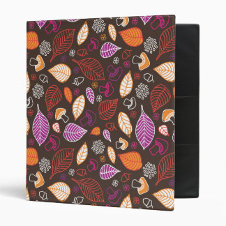 Cute colourfull autumn pattern binder
