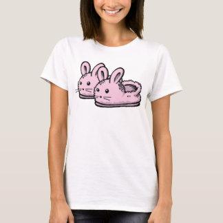 Cute, Comfy Motivation Pink Bunny Rabbit Slippers T-Shirt