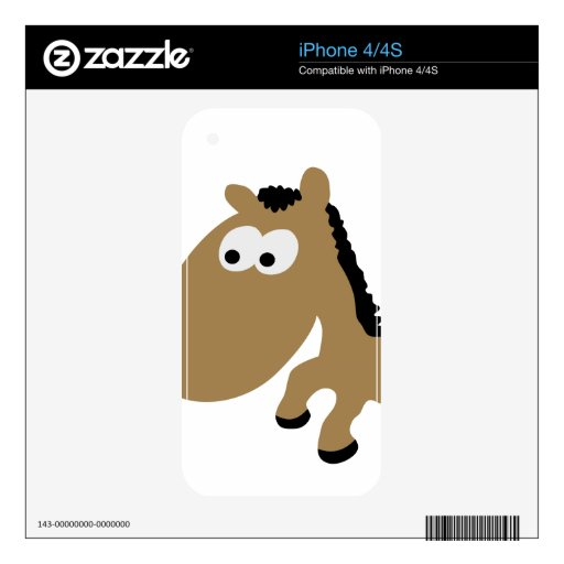Cute comic horse iPhone 4S decals