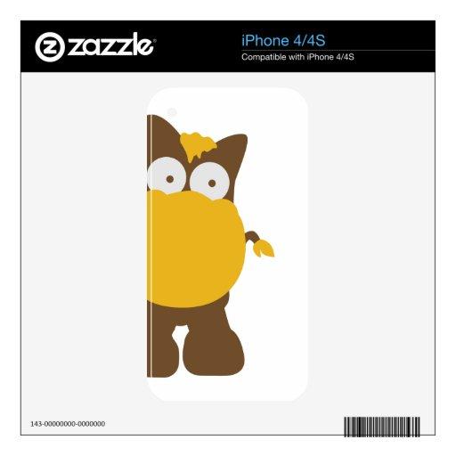 Cute comic horse skin for iPhone 4