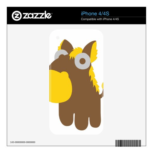 Cute comic horse decals for the iPhone 4