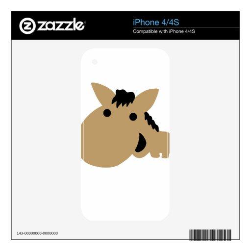 Cute comic horse skin for the iPhone 4