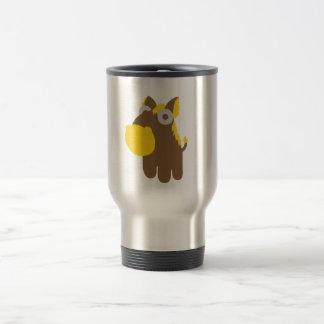Cute comic horse travel mug