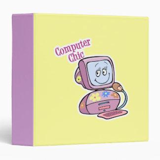 Cute Computer Chic Design Binder