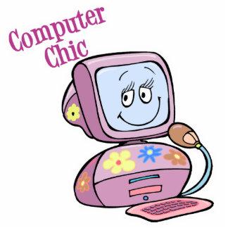 Cute Computer Chic Design Standing Photo Sculpture
