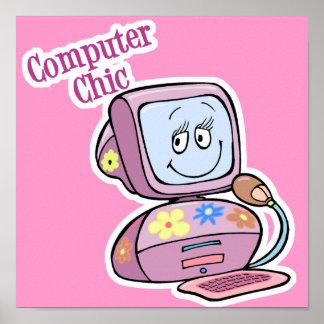 Cute Computer Chic Design Poster
