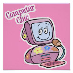 Cute Computer Chic Design Posters