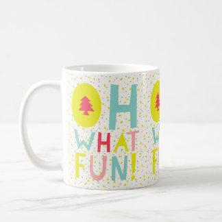 Cute Confetti Oh What Fun Colorful Holiday Mug