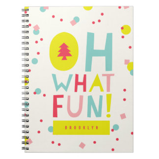 Cute Confetti Oh What Fun Dots Holiday Note Book