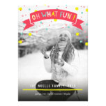 Cute Confetti Oh What Fun Holiday Photo Greetings Announcements