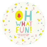 Cute Confetti Oh What Fun Holiday Photo Greetings Invitation