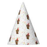 Cute Confetti Party Beaver Party Hat