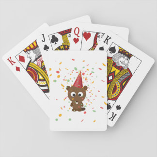 Cute Confetti Party Beaver Playing Cards