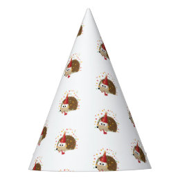 Cute Confetti Party Hedgehog Party Hat